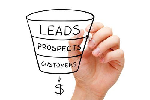 Sales funnel drawing